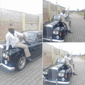 Billionaire Ayiri Emami Relaxes On His Classic Bentley Car In His Warri Mansion Photo